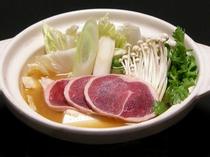 あい鴨の山菜味噌炊き鍋