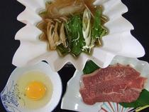 国産牛のしゃぶすき(オプション料理)
