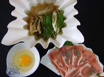国産豚のしゃぶすき(オプション料理)