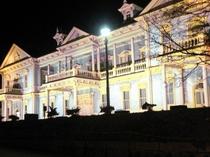 ライトアップ函館区公会堂