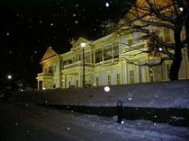 雪の函館区公会堂