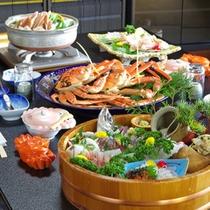 蟹コース料理・全体1