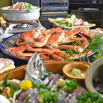 蟹コース料理・全体2