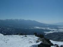 冬の車山山頂から