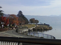 諏訪湖 釜口水門付近