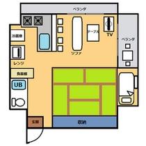 *高層階デラックスルーム36平米・キッチン付き間取りnew