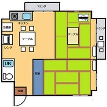 *和室45平米・キッチン付き間取りnew