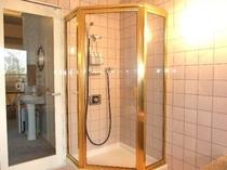 ジャグジーに併設された、シャワーブース