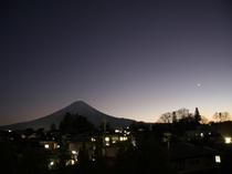 大浴場からの富士山ビュー
