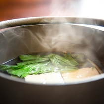 朝食湯豆腐