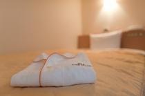 セミダブルサイズのベッド