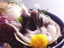 丹後トリ貝のお造り例