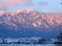 冬の餓鬼岳