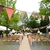 【森の結婚式】こんなアウトドア施設で挙式した・・・そんなお客様の声から始まった森の結婚式。