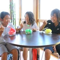 【クラブハウス-夏-】あつ~い季節には、キンキンに冷えたかき氷をお楽しみ頂けます♪