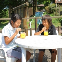 【園内風景】ジュースも美味しいし、空気もおいしい♪