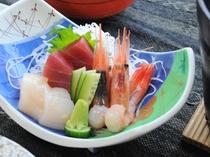 【夕食】新鮮なお刺身