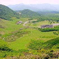 本館裏の象山から見た休暇村