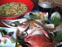 渡り蟹の宝楽焼