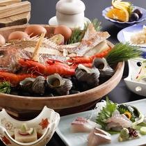 豪快な浜料理「宝楽焼(ほうらくやき)」を淡路島の高級塩≪藻塩≫で堪能★