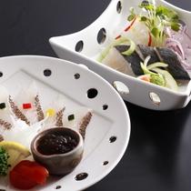 藻塩で旨味凝縮!「宝楽焼コース」、鰆のタタキor鯛のカルパッチョ!