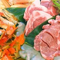 国産牛ロース&豚ロース 網焼き食べ比べ