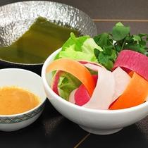 【夏】彩野菜の温しゃぶサラダ