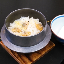 【春】浅蜊生姜釜飯
