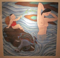 水彩画「中国の爛漫」