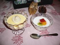 夕食のデザート