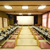 団体のお客さまには、大広間にてご宴会も承ります。