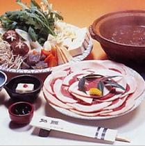 ぼたん鍋料理