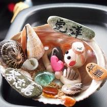 貝殻で作った海女さん♪