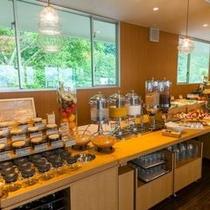 朝食バイキング ドリンクコーナーには、日替わりのオリジナルミックスジュースもご用意