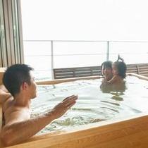貸切半露天風呂「湯癒」ご家族だけの贅沢なプライベートタイムをどうぞ