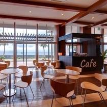 ロビー横に併設されたカフェ