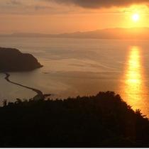 魚見岳から眺める大隅半島から昇る朝日