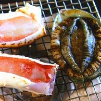 *料理一例/蟹と鮑
