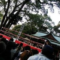 【冬】 2月には来宮神社で節分祭が執り行われます
