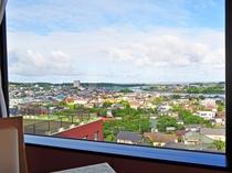 【朝食会場】スカイレストラン天空からの眺め