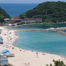 夏のおすすめ! 日本海・竹野浜ビーチ 当館から、JRで一駅、車で約15分