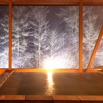 【展望露天風呂】冬の景色