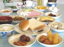 充実の朝食バイキング