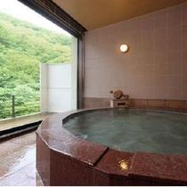 隠笠*赤御影石の浴槽