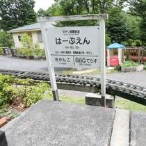 【庭園鉄道はーぶえん駅】