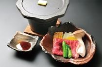上州牛の陶板焼き