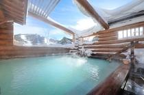 冬期露天風呂