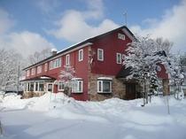 雪景色の宿