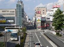山形駅東口 駅前広場とホテルニュー最上屋