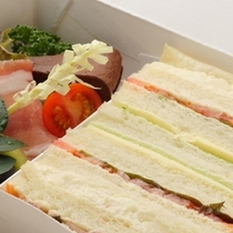 出発の早いお客様には朝食をサンドイッチに変更出来ます(事前予約)